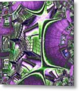 Fire Escape Fractal Metal Print