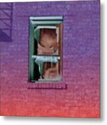 Fire Escape Window 2 Metal Print