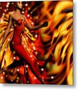 Fire Fae Metal Print