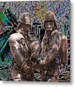 Fire Fighters Memorial Seattle Metal Print
