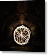 Fire Flower Tunnel Metal Print