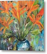 Fire Flowers Metal Print