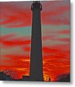 Fire Frames The Lighthouse Metal Print