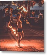 Fire Girl Metal Print by Claudia M Photography