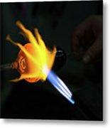 Fire Hand Metal Print