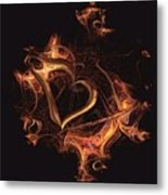 Fire Heart Metal Print