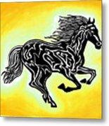 Fire Horse 3 Metal Print