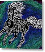 Fire Horse Burn 3 Metal Print