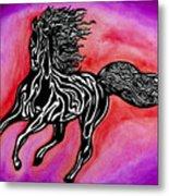Fire Horse Burn 4 Metal Print