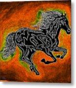 Fire Horse Neona 4 Metal Print