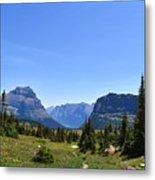Fire In Glacier National Park Metal Print