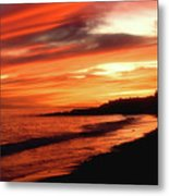 Fire In Sky Metal Print
