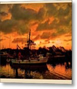 Fire In The Morning Metal Print
