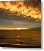 Fire In The Sky Maui Hawaii Metal Print