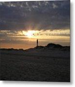 Fire Island Lighthouse At Sunset Metal Print