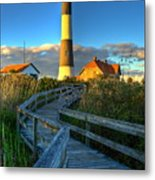 Fire Island Lighthouse Before Sunset Metal Print