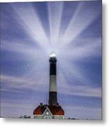 Fire Island Lighthouse Twilight Metal Print