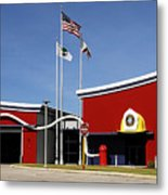 Fire Station Disney Style Metal Print