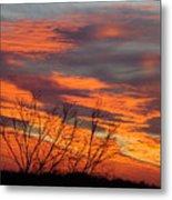 Fire Sunrise Metal Print