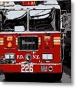 Fire Truck Color 6 Metal Print