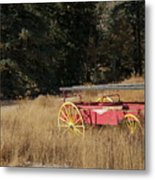 Fire Truck Crossing Metal Print