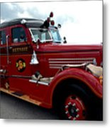 Fire Truck Selfridge Michigan Metal Print