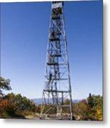 Fire Watch Tower Overlook Mountain Metal Print