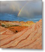 Fire Wave Rainbow Dawn Metal Print