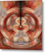 Fire Wheel Metal Print