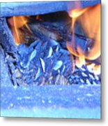 Fire With Pinecones Metal Print