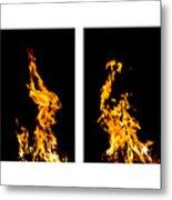 Fire X 6 Metal Print by Tomasz Dziubinski