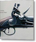 Firearms 1746 British Flintlock Horse Pistol Metal Print
