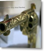 Firearms Gold Colt Single Action Army 45cal Revolver Metal Print