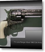 Firearms Tv Lone Ranger 45cal 1960 Colt Army Revolver Metal Print