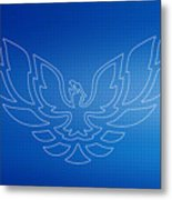 Firebird Blueprint Metal Print