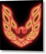 Firebird Neon Sign Metal Print