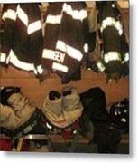 Firefighter Gear Metal Print