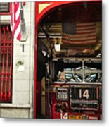 Firefighters Of New York - Engine Sweet 14 - Closeup Metal Print