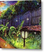 Fireflies In Woodfin Metal Print