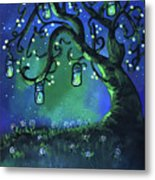 Fireflies Metal Print