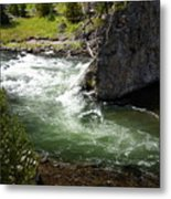 Firehole Canyon 1 Metal Print