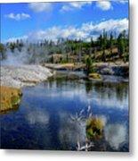 Firehole River Yellowstone Metal Print