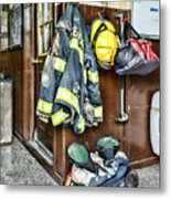 Fireman - Always Ready Metal Print