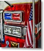 Fireman - Fire Truck Metal Print