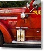 Fireman - Garwood Fire Dept Metal Print by Mike Savad