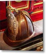 Fireman - Hat - Commander  Metal Print