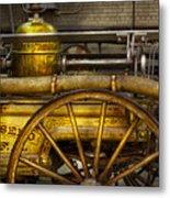 Fireman - Piano Engine - 1855  Metal Print by Mike Savad