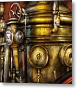 Fireman - The Steam Boiler  Metal Print