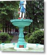 Firemans Monument  Owego New York Metal Print
