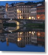 Firenze Blue I Metal Print